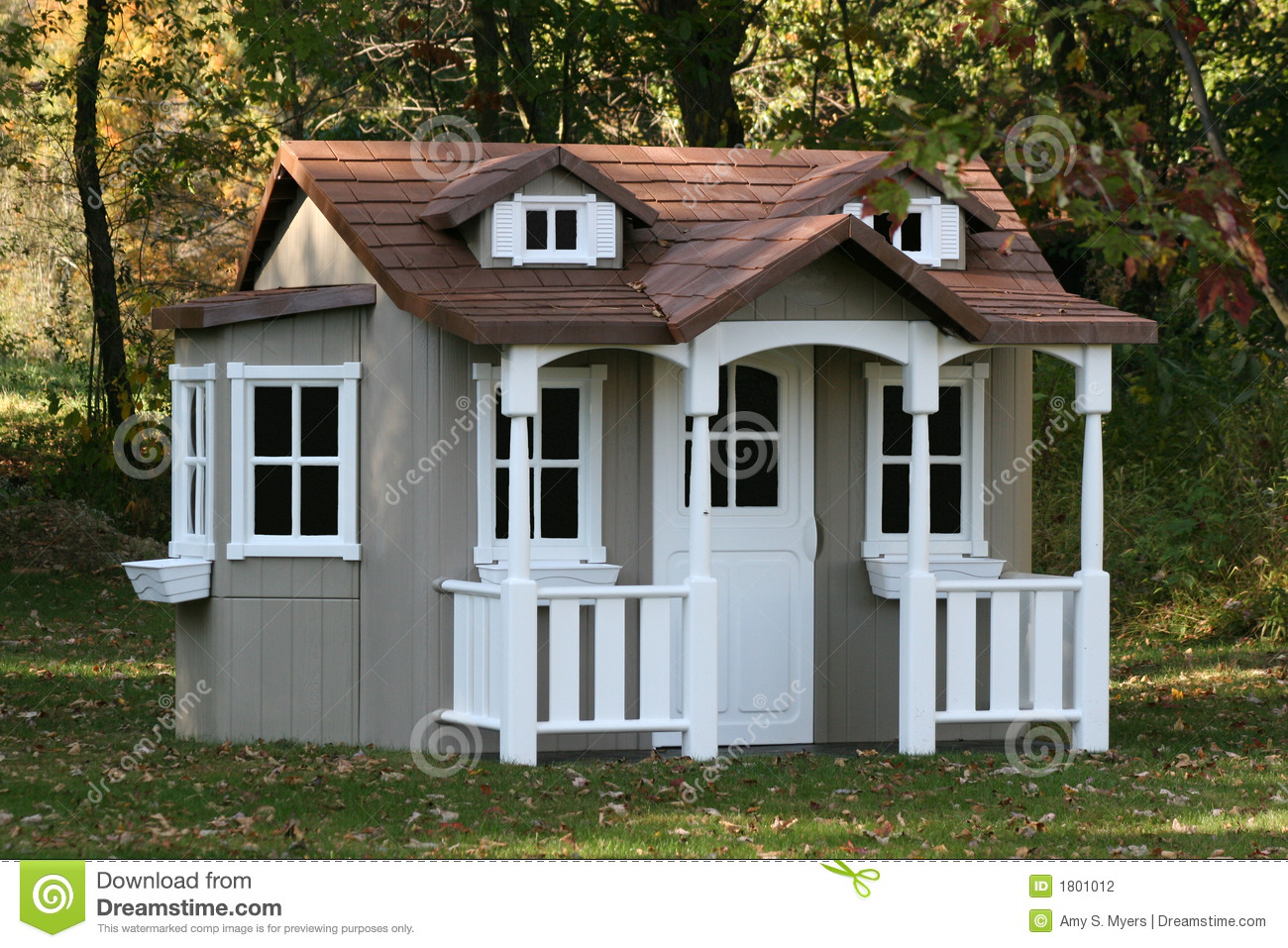 Childrens playhouse stock photography image 1801012 - Houses for families withchild ...