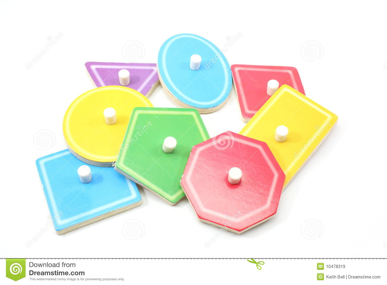 Childrens Puzzle Shapes And Colors Royalty Free Stock