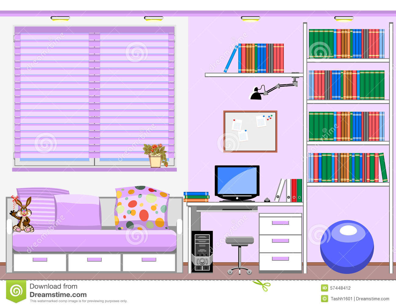 Childrens Room Stock Vector Image 57448412