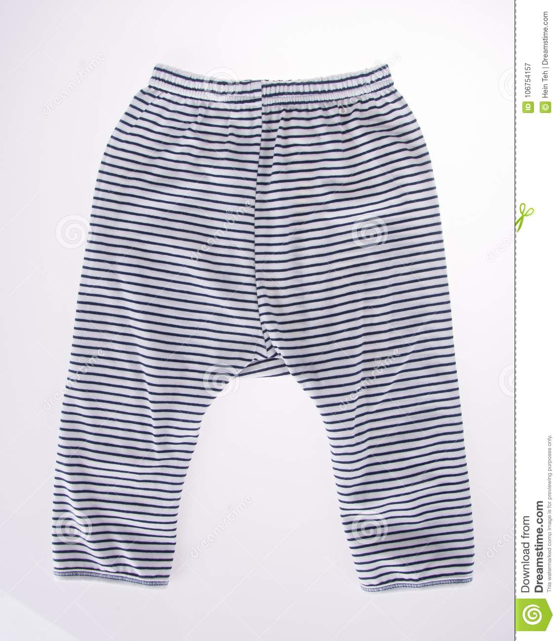 c074abf1d912 Childrens Striped Pants Isolated On A White Background Stock Image ...