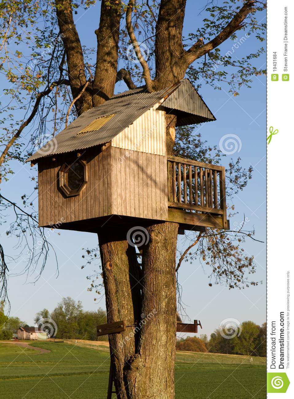 Childrens Treehouse stock photo. Image of childrens, kids ...