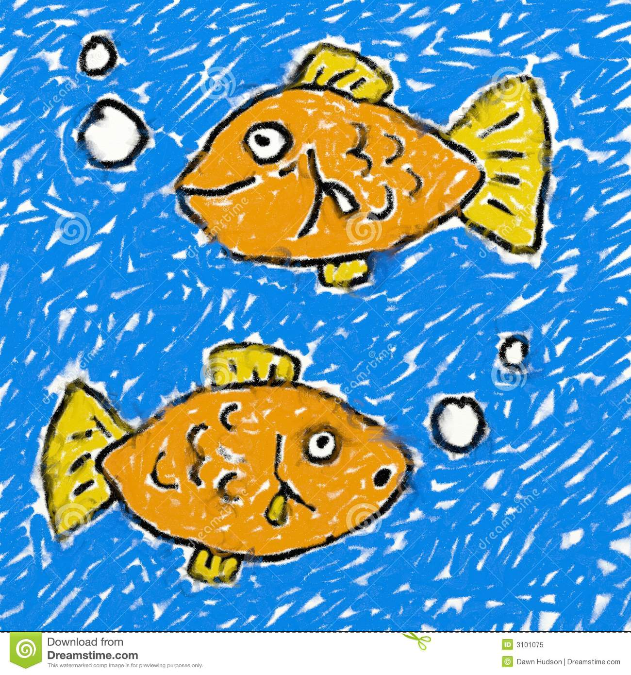 Fish Underwater Drawing Childs fish drawing