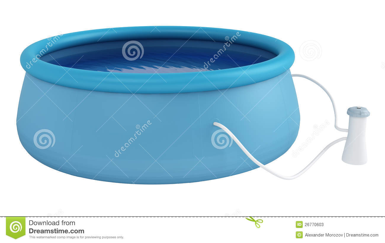 Childs plastic swimming pool stock photos image 26770603 for Plastic swimming pool