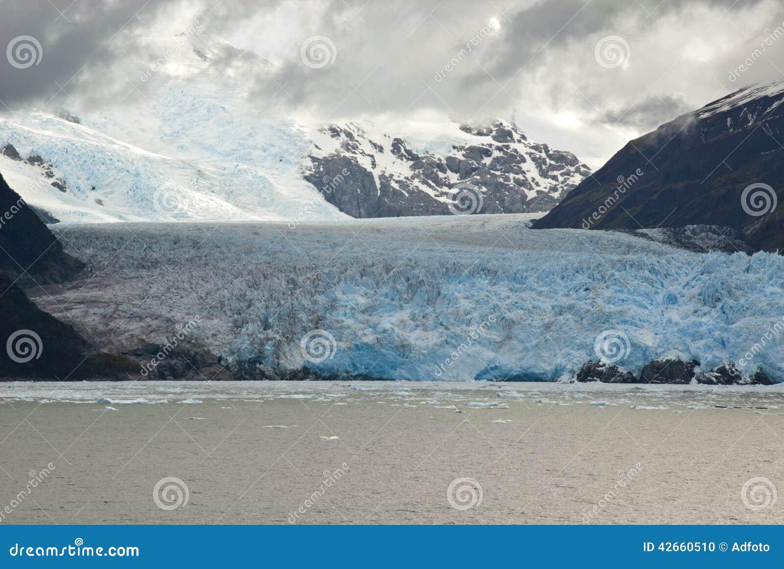 Chile - Amalia Glacier In A Cloudy Day