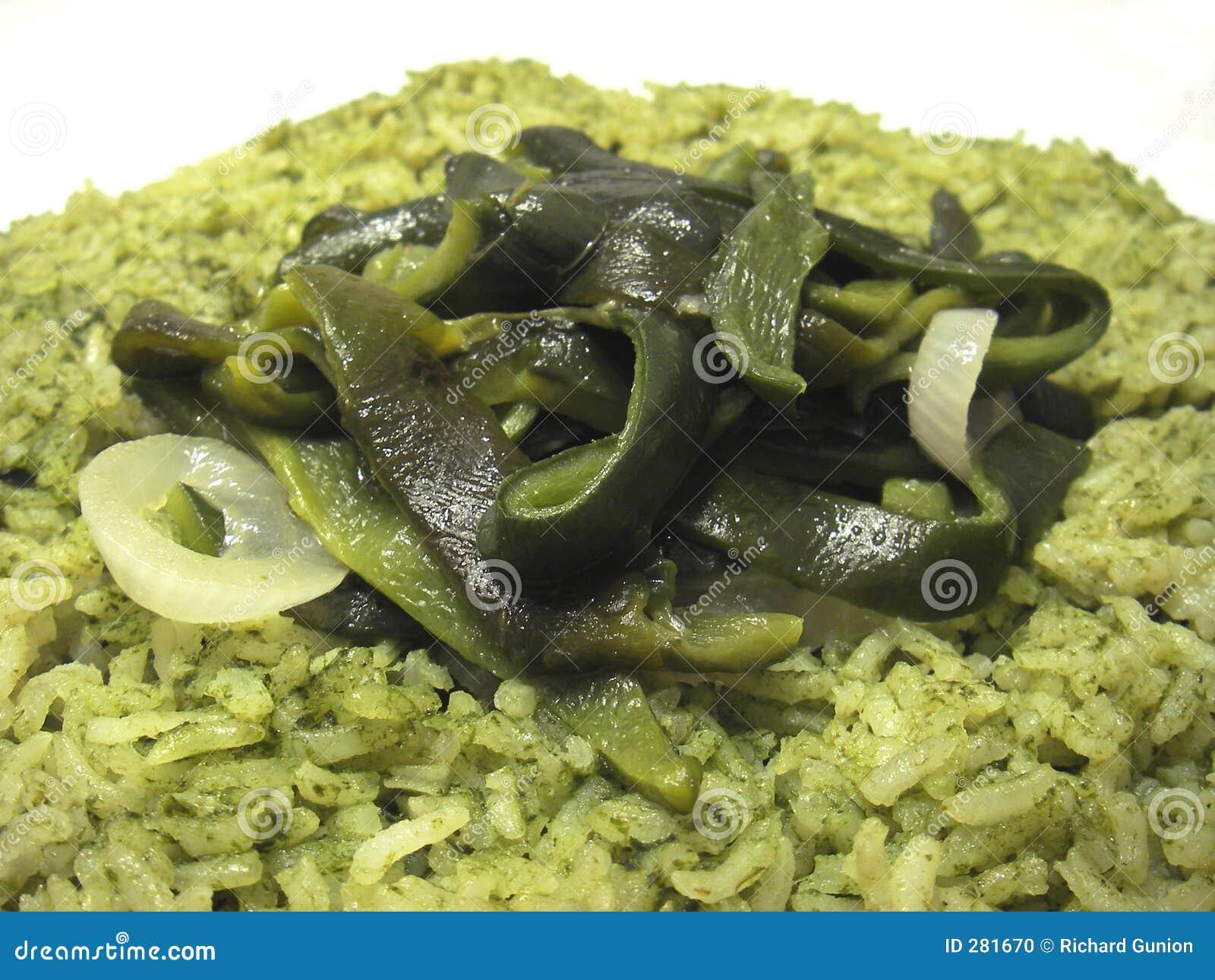 Chile grön rice
