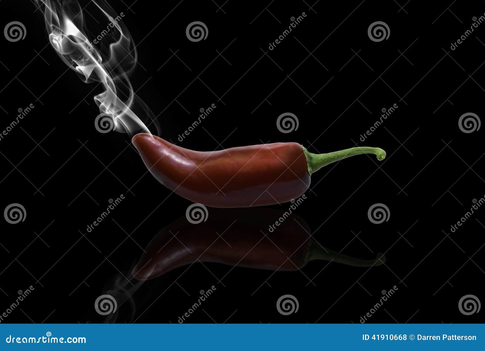 Chiles calientes que fuman