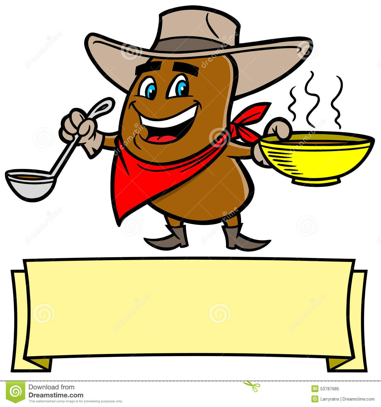 chili bean cowboy stock vector image 53787685 Old West Illustrations Old West Illustrations