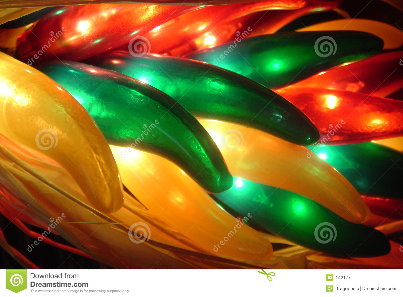 Chili lighted peppers