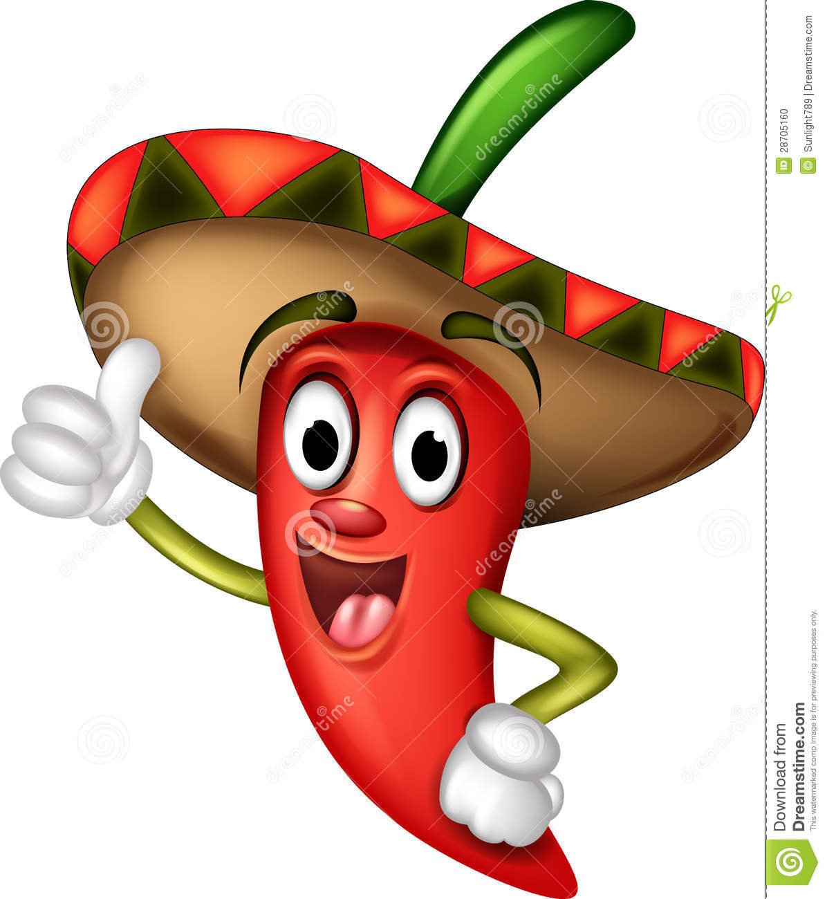 Chili Pepper Cartoon Thumbs Up Stock Photo - Image: 28705160