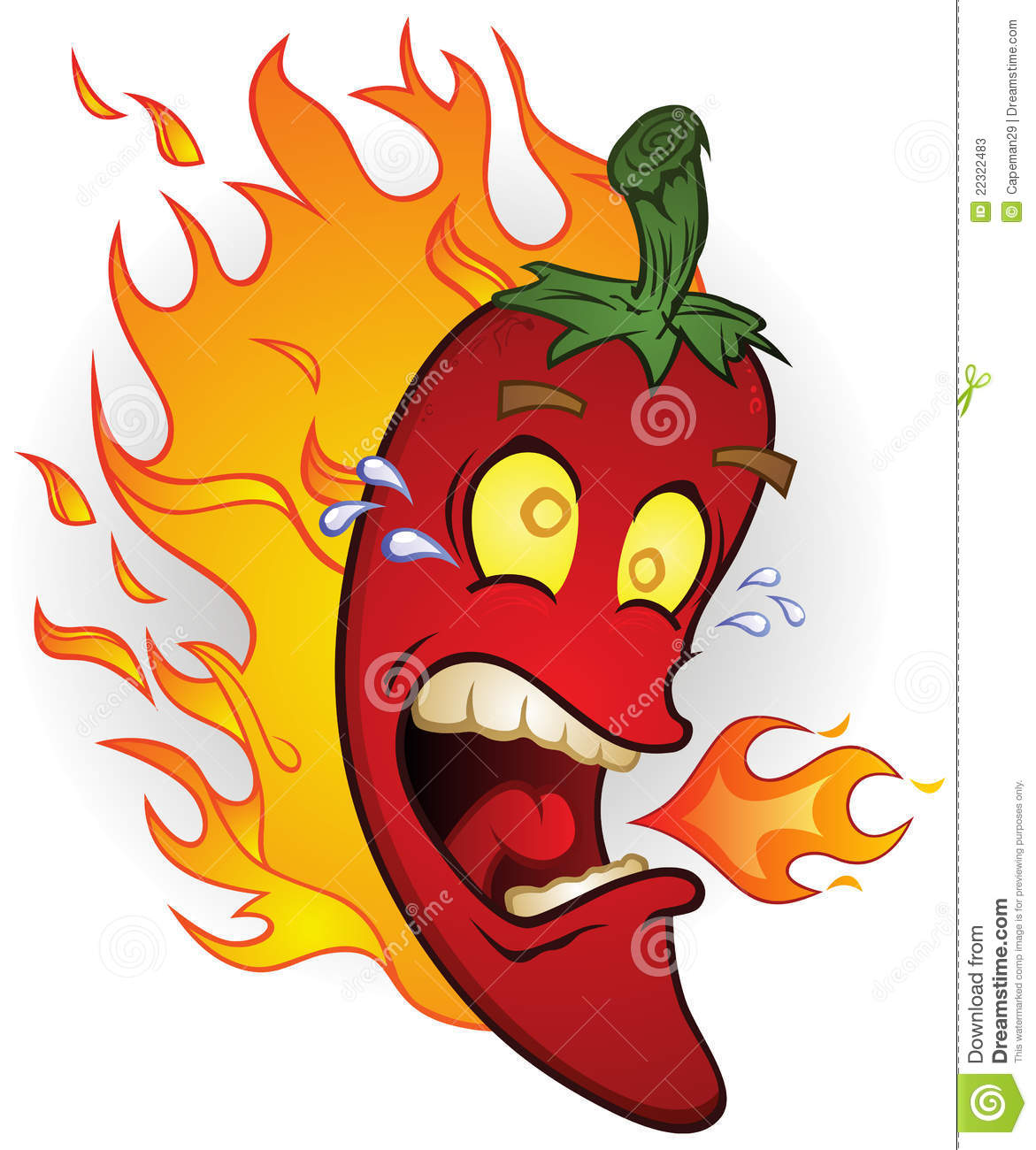 Chili Pepper On Fire Stock Photos - Image: 22322483