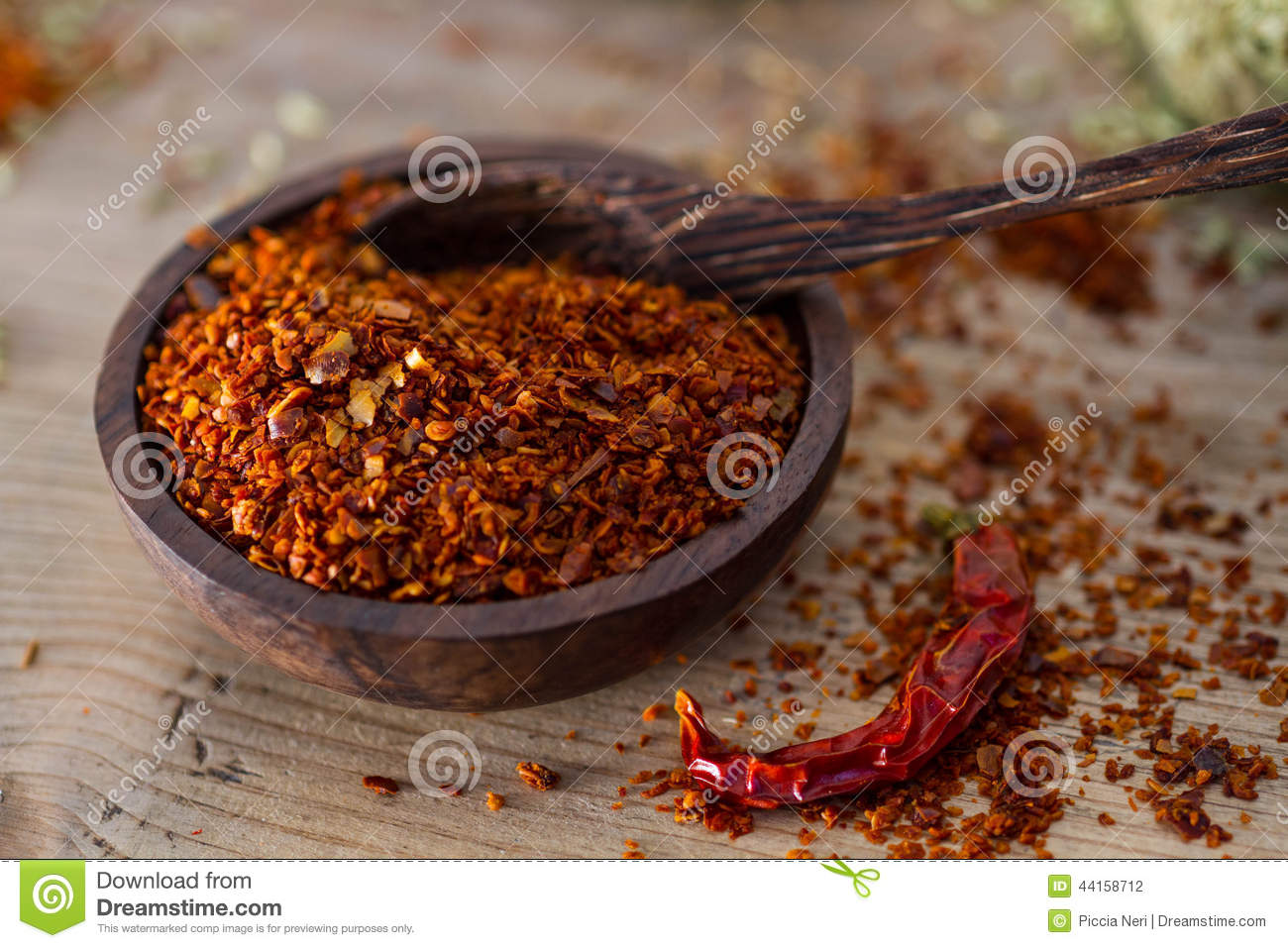 Chili pepper flakes stock photo image 44158712 for Chili flakes