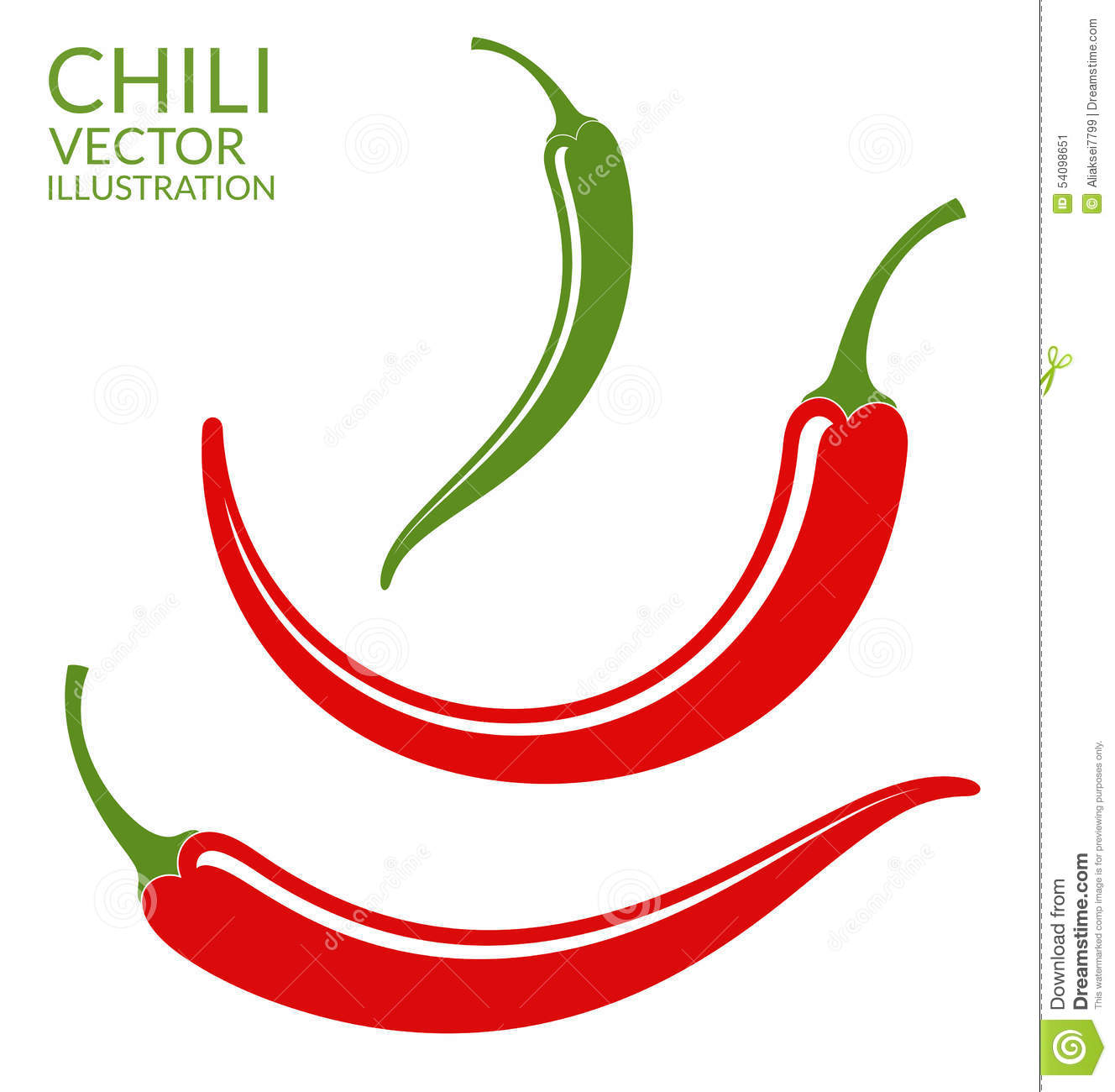 Chili Pepper Stock Illustration Image 54098651