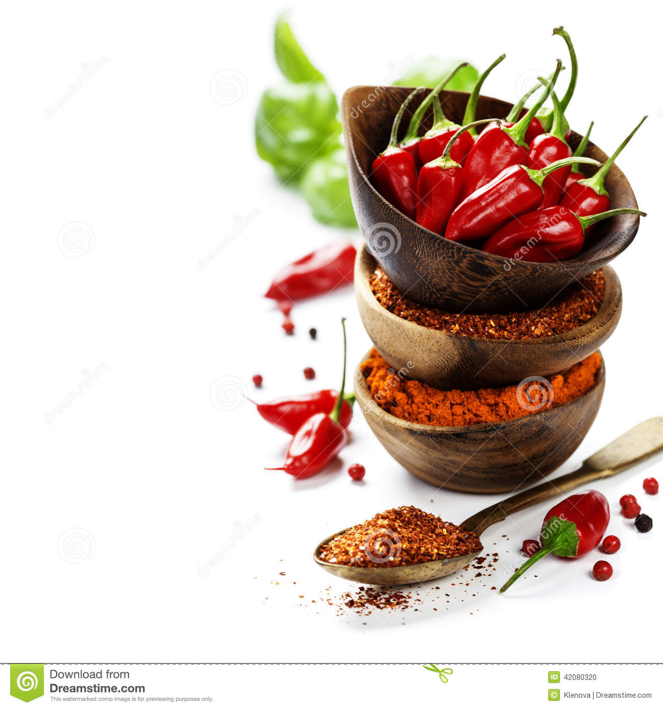Chili Peppers With Herbs And Spices Stock Photo Image