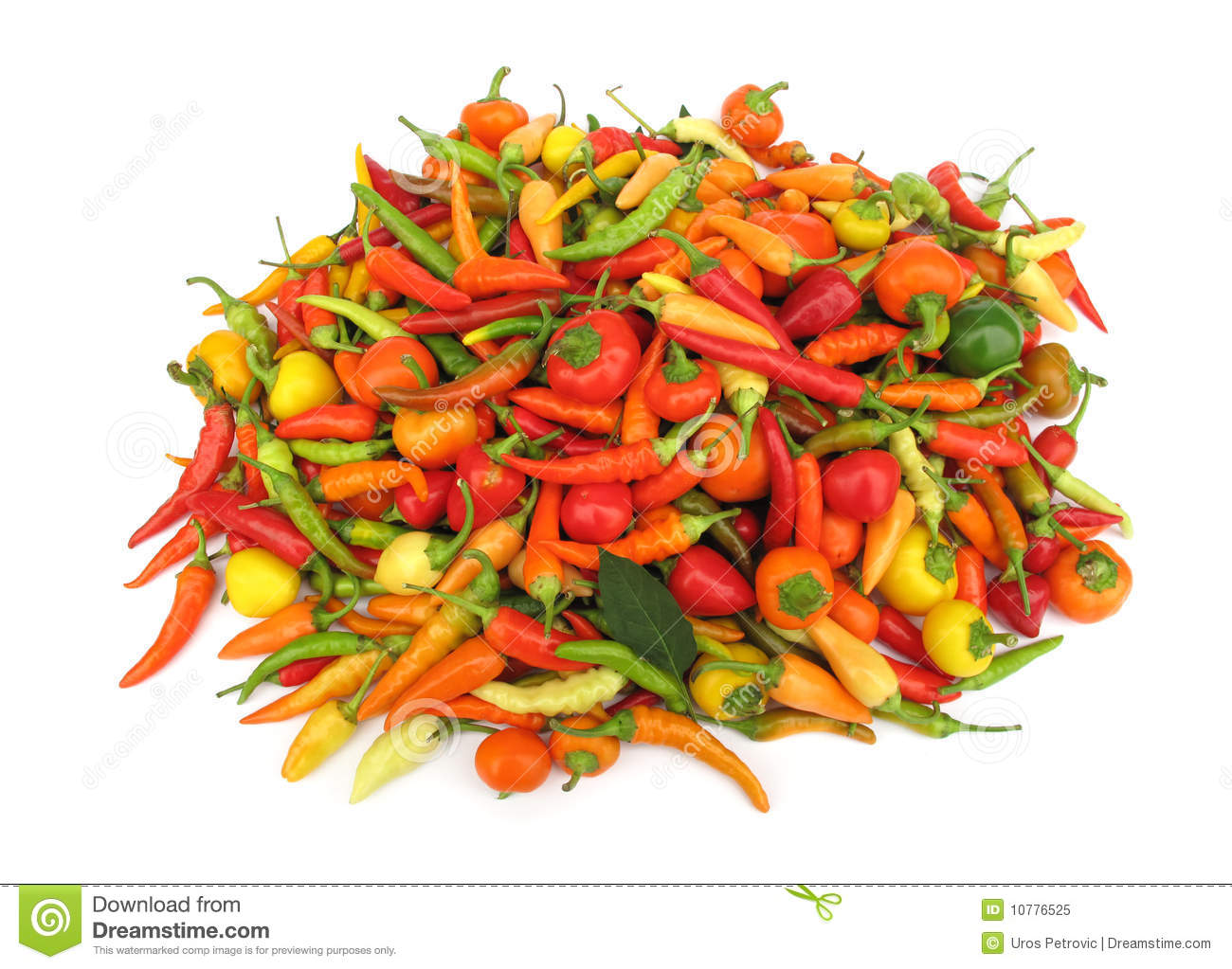 Chili peppers paprika in red dish