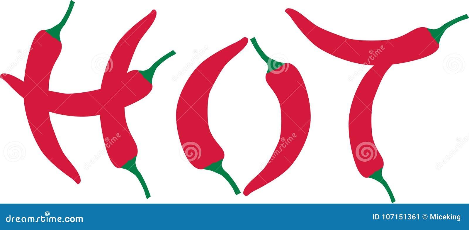 Chili pieprz - gorący