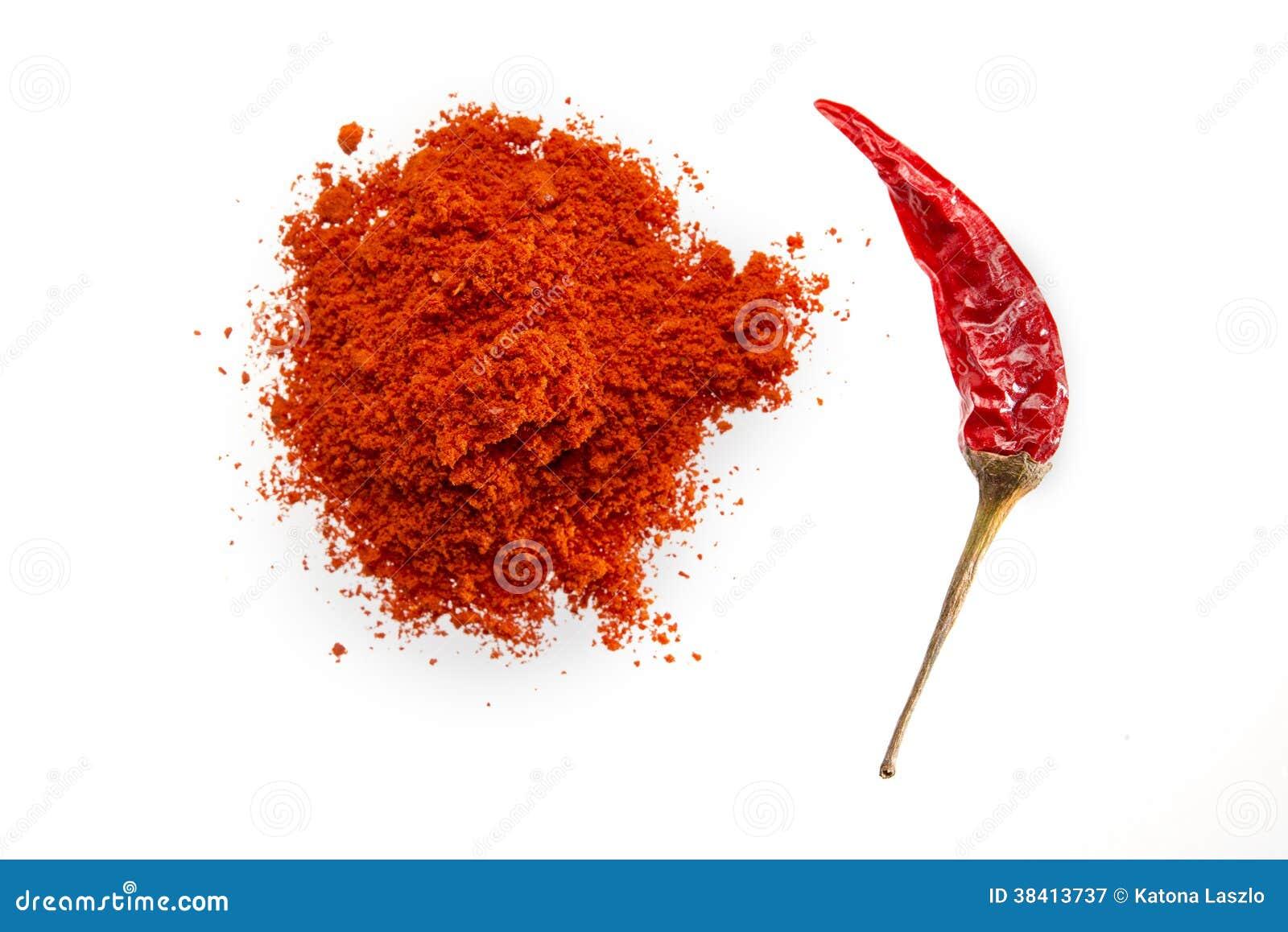 Chili torkade gruondpulver
