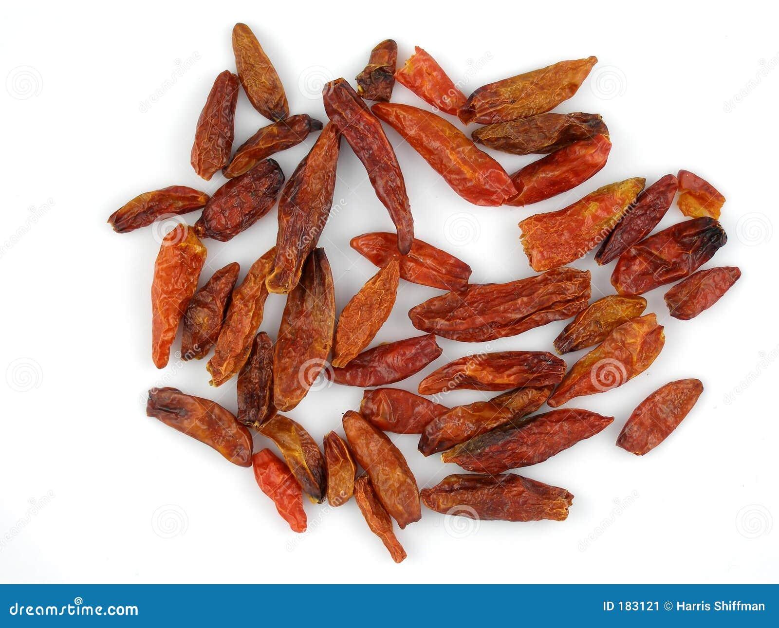 Chilis secados del birdseye