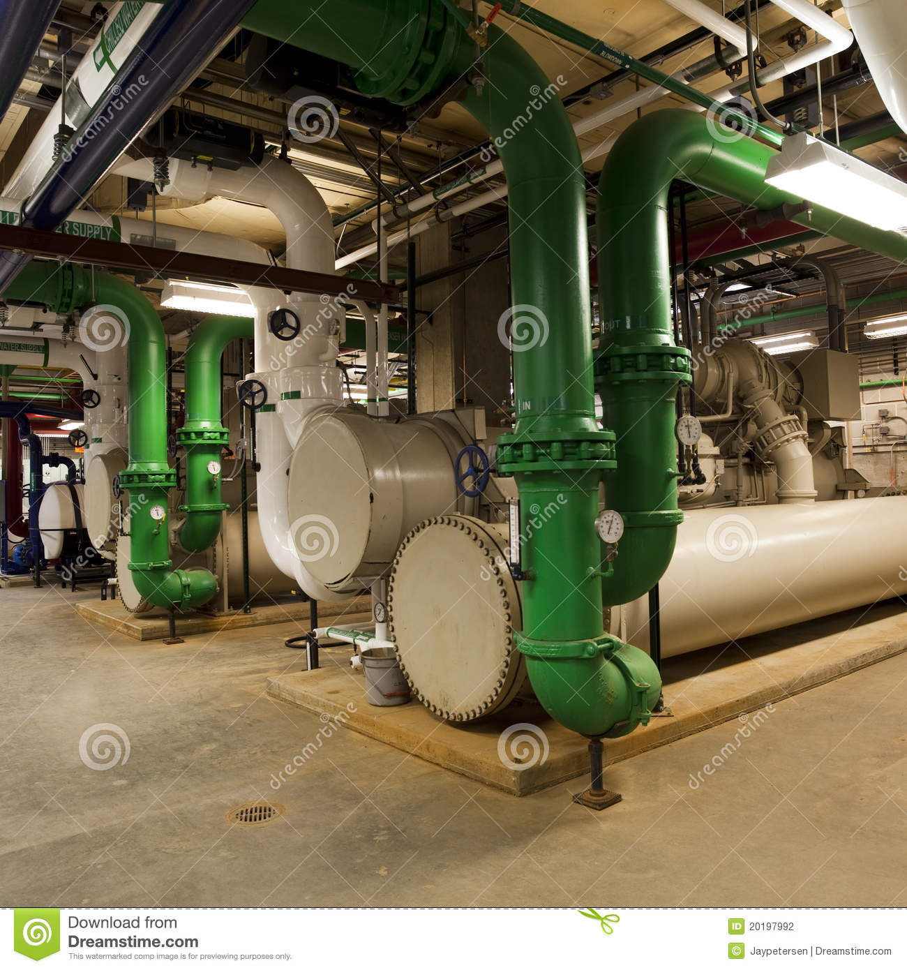 Chiller Plant And Piping Stock Photography Image 20197992