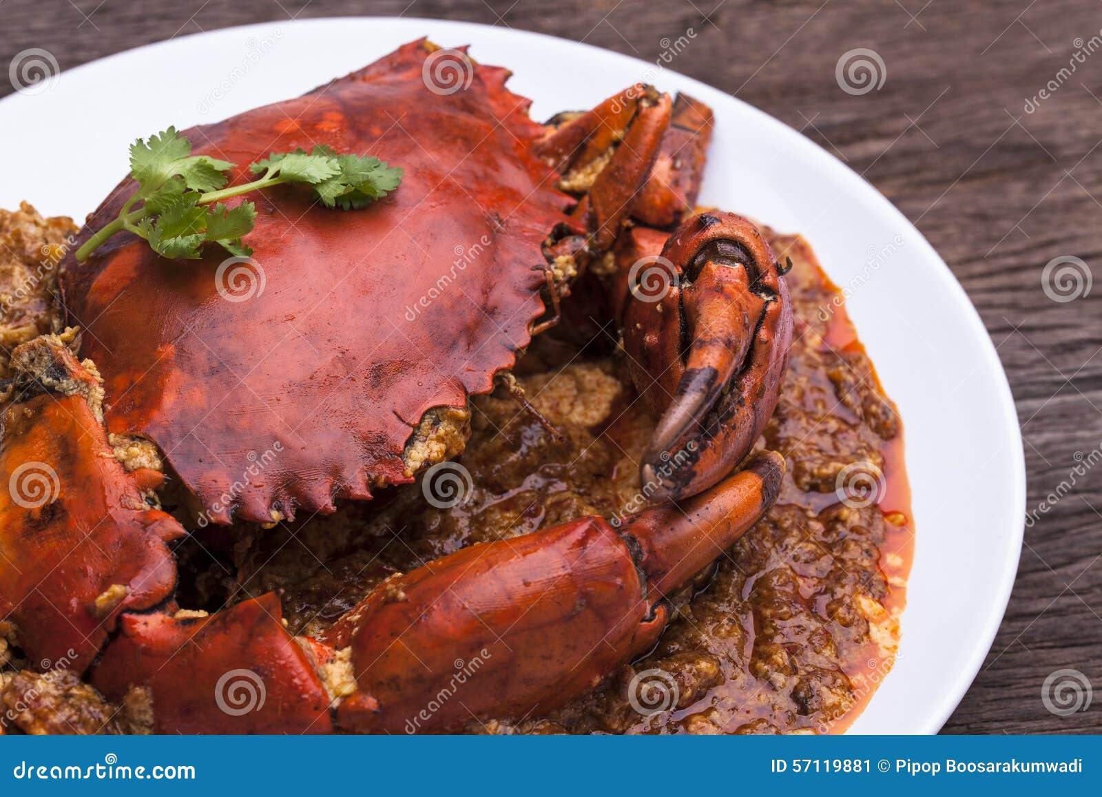 Chilli crab asia cuisine stock image image of chef for Asian cuisine singapore