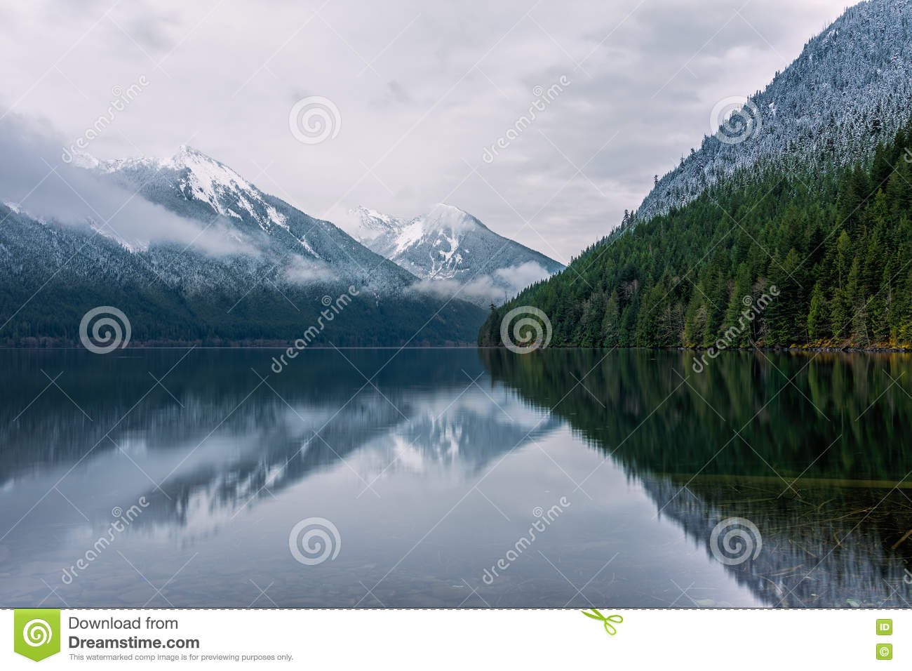 The Chilliwack Lake in the Chilliwack Lake Provincial Park