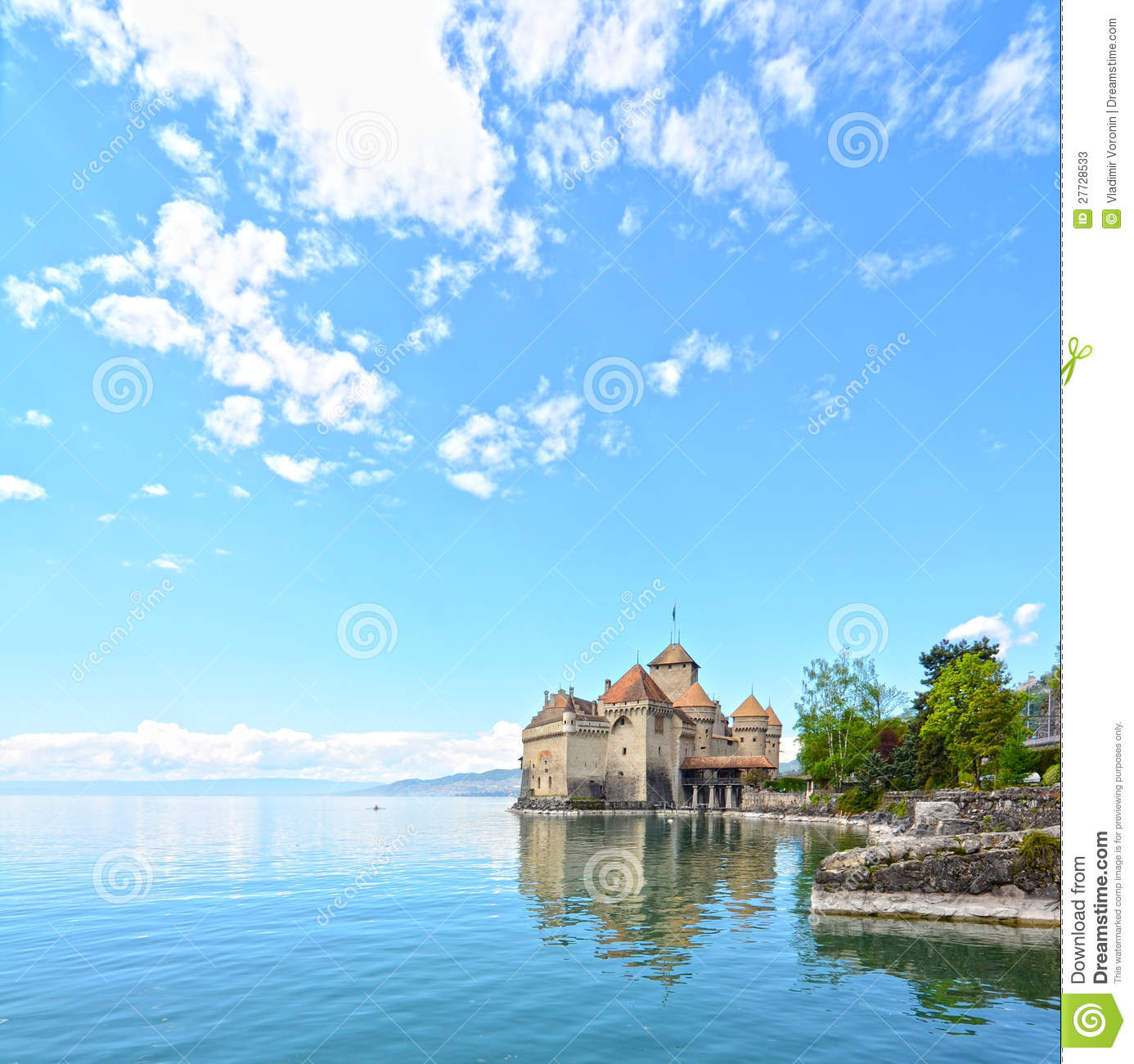 Chillon Schloss in Geneva See