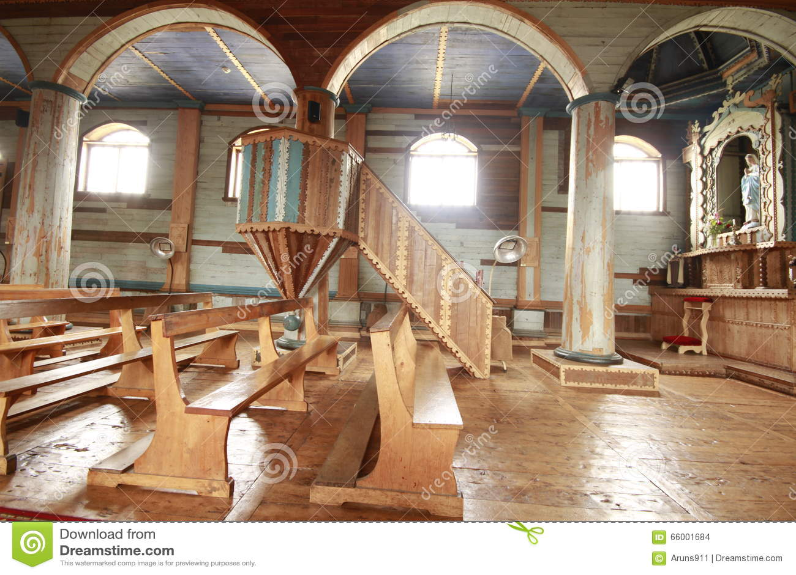 View On Wooden Church Editorial Image Cartoondealer Com