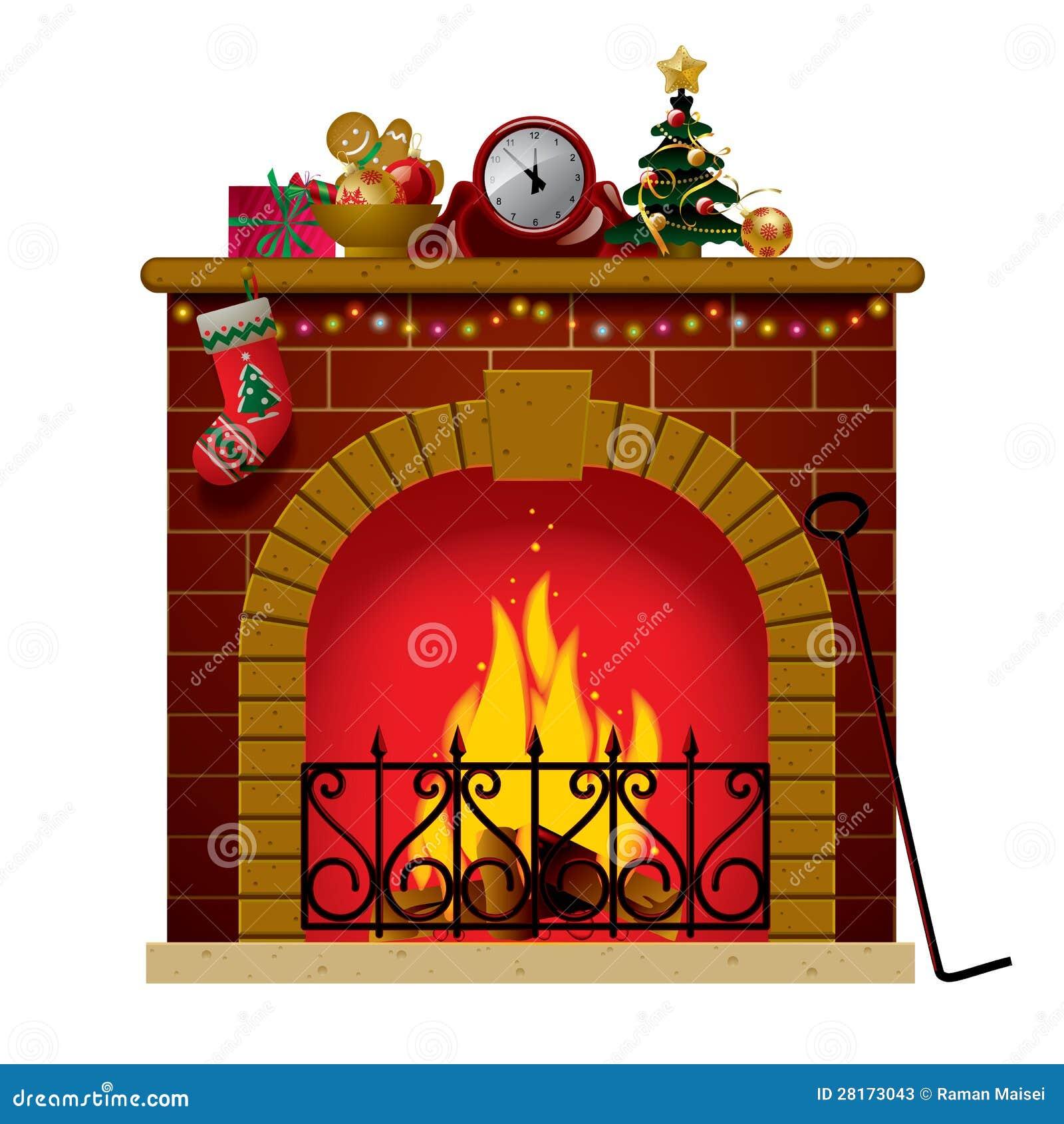 Chimenea de la navidad ilustraci n del vector imagen de - Dibujos de chimeneas de navidad ...