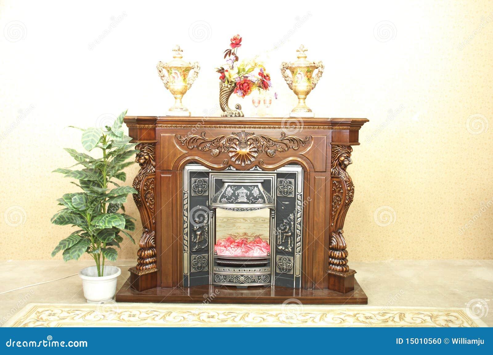 Chimenea falsa foto de archivo imagen 15010560 for Fuego falso para chimenea