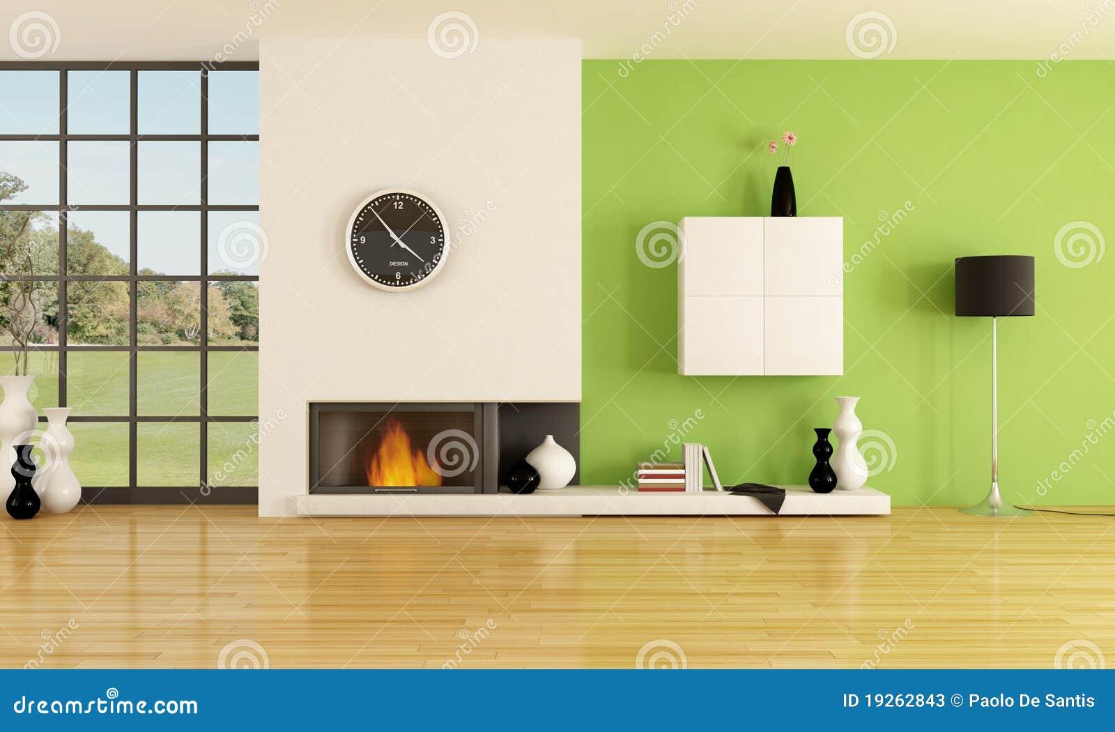 Chimenea minimalista stock de ilustraci n ilustraci n de interior 19262843 - Chimeneas minimalistas ...