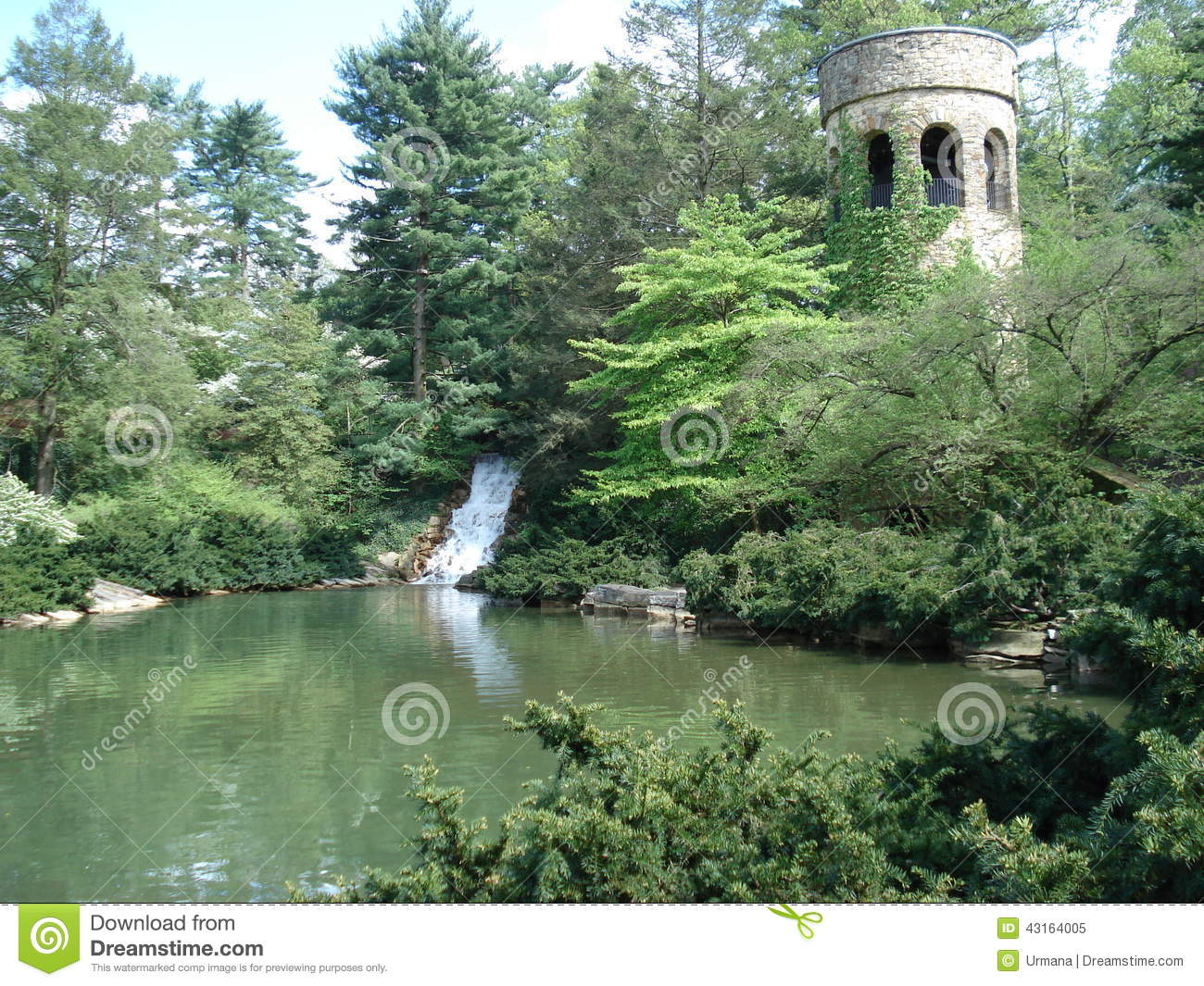 Chimes Tower In Longwood Gardens, Pennsylvania. Stock Photo