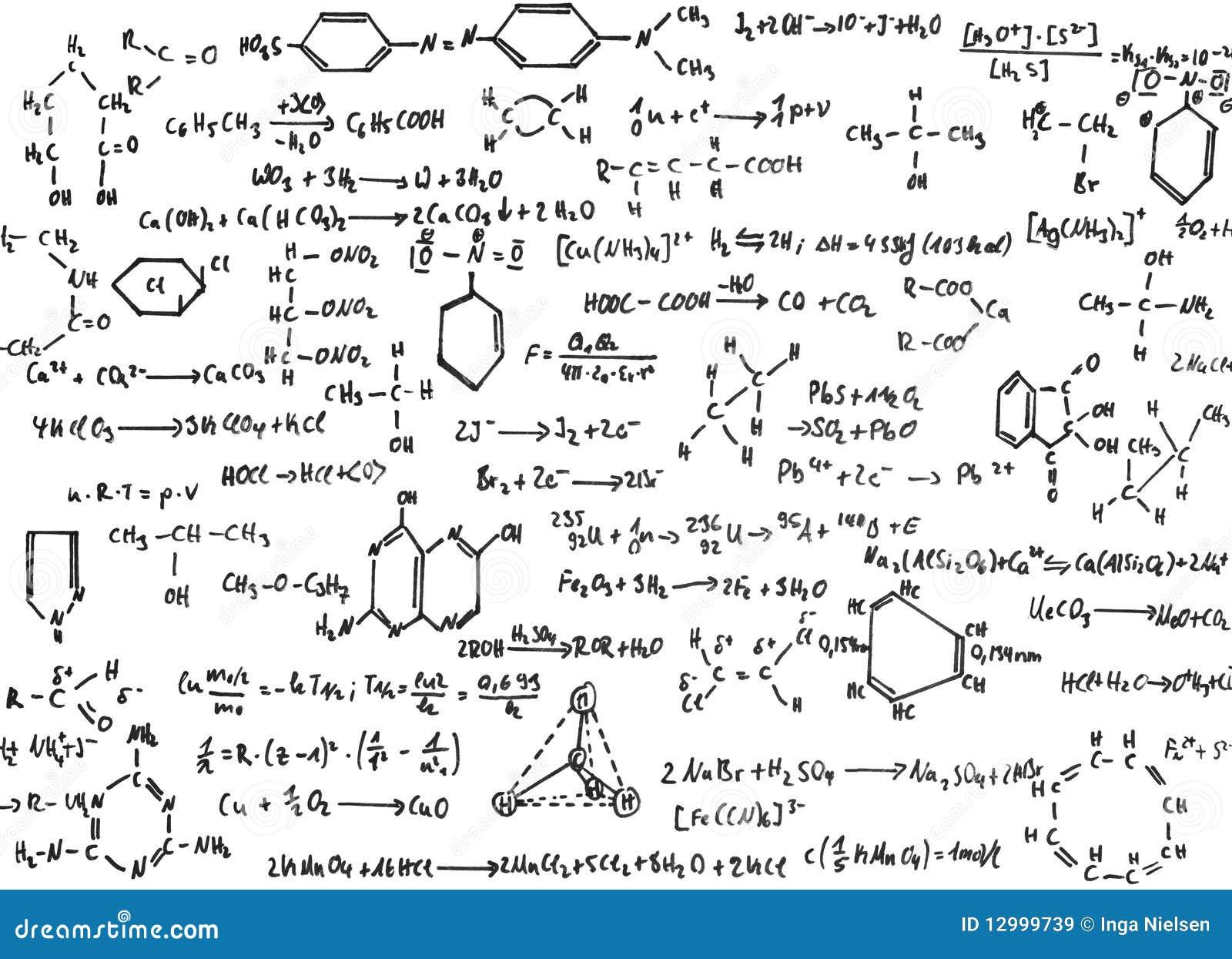 Chimica immagine stock immagine di equazioni formula for Sfondi chimica