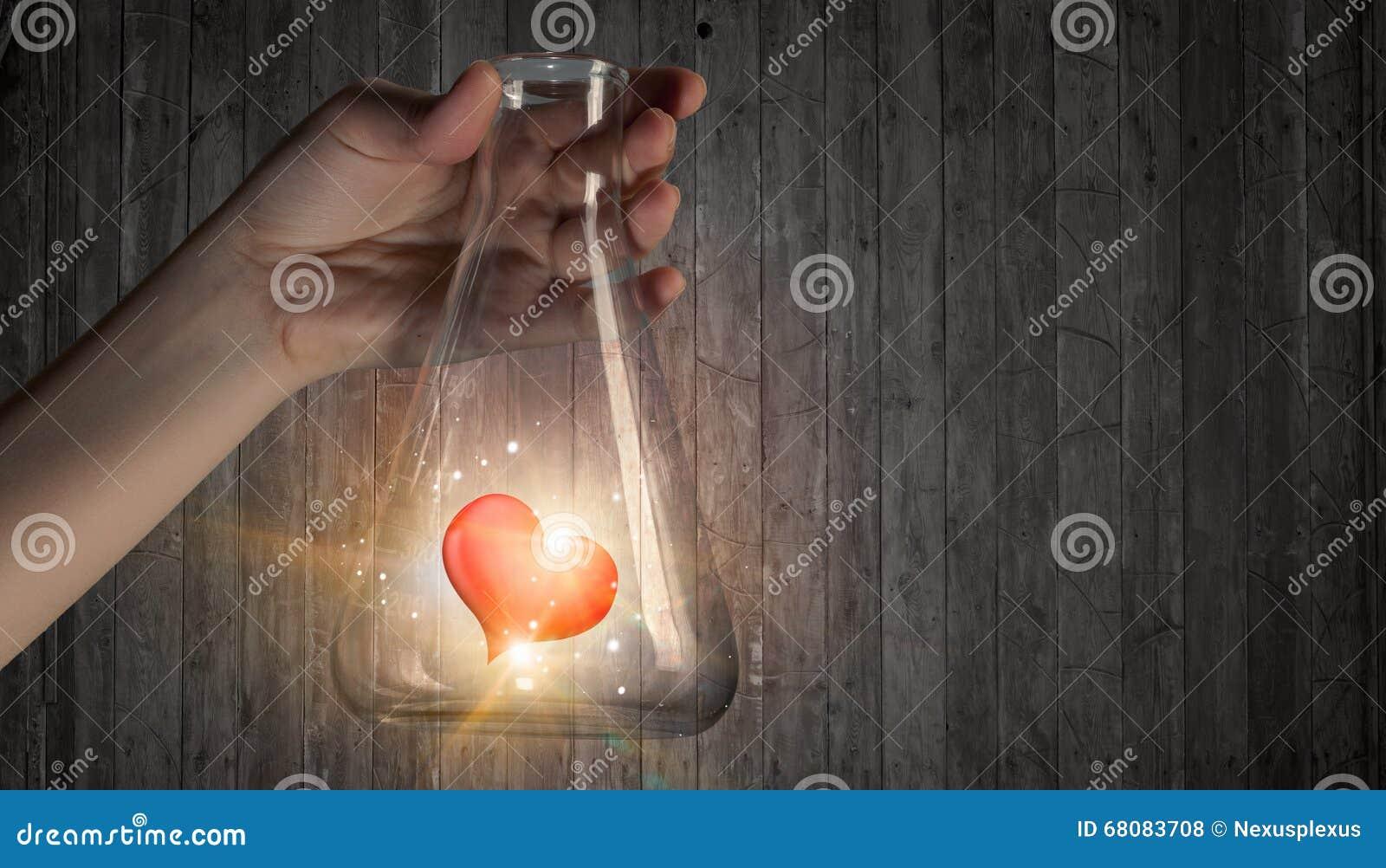 Chimica Di Passione E Di Amore Fotografia Stock Immagine Di