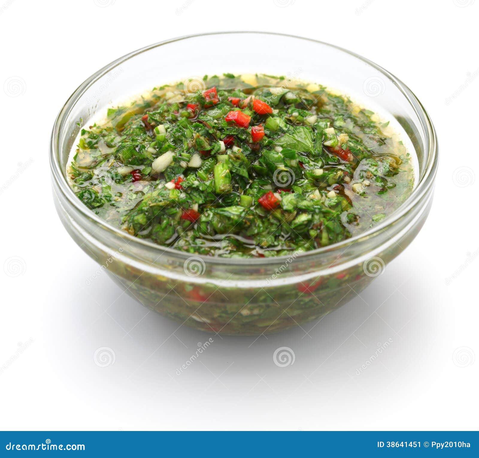 chimichurri sauce traditional argentine condiment stock image image