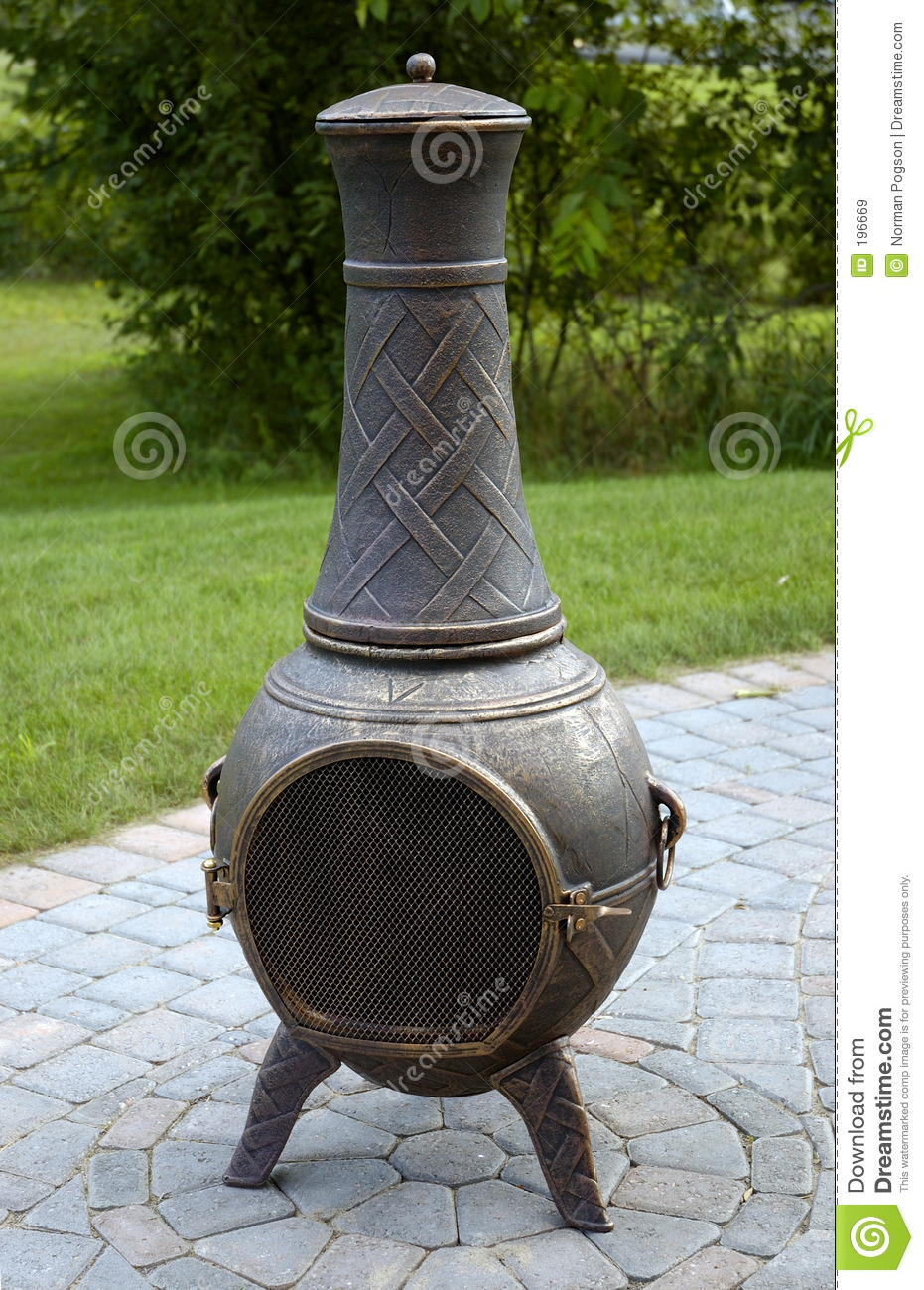 chiminea fire pot royalty free stock images image 196669