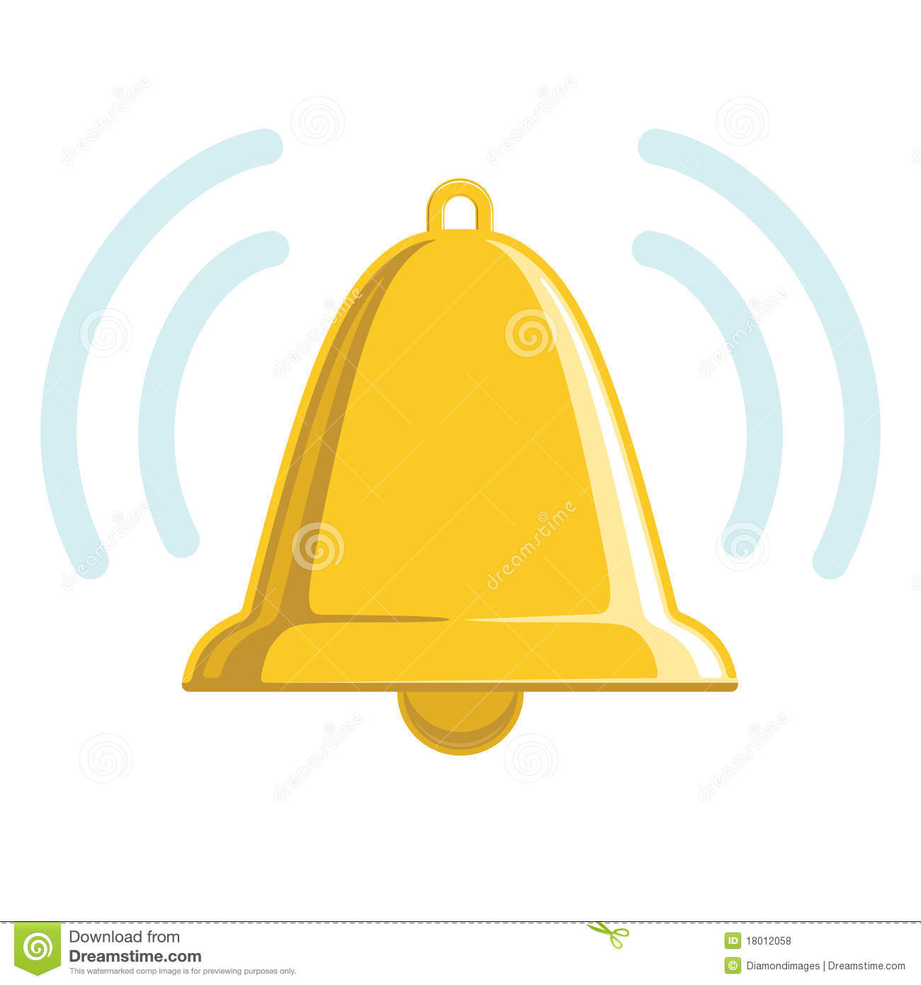 Royalty Free Stock Photos Chiming Golden Bell Image18012058 on emergency siren sound