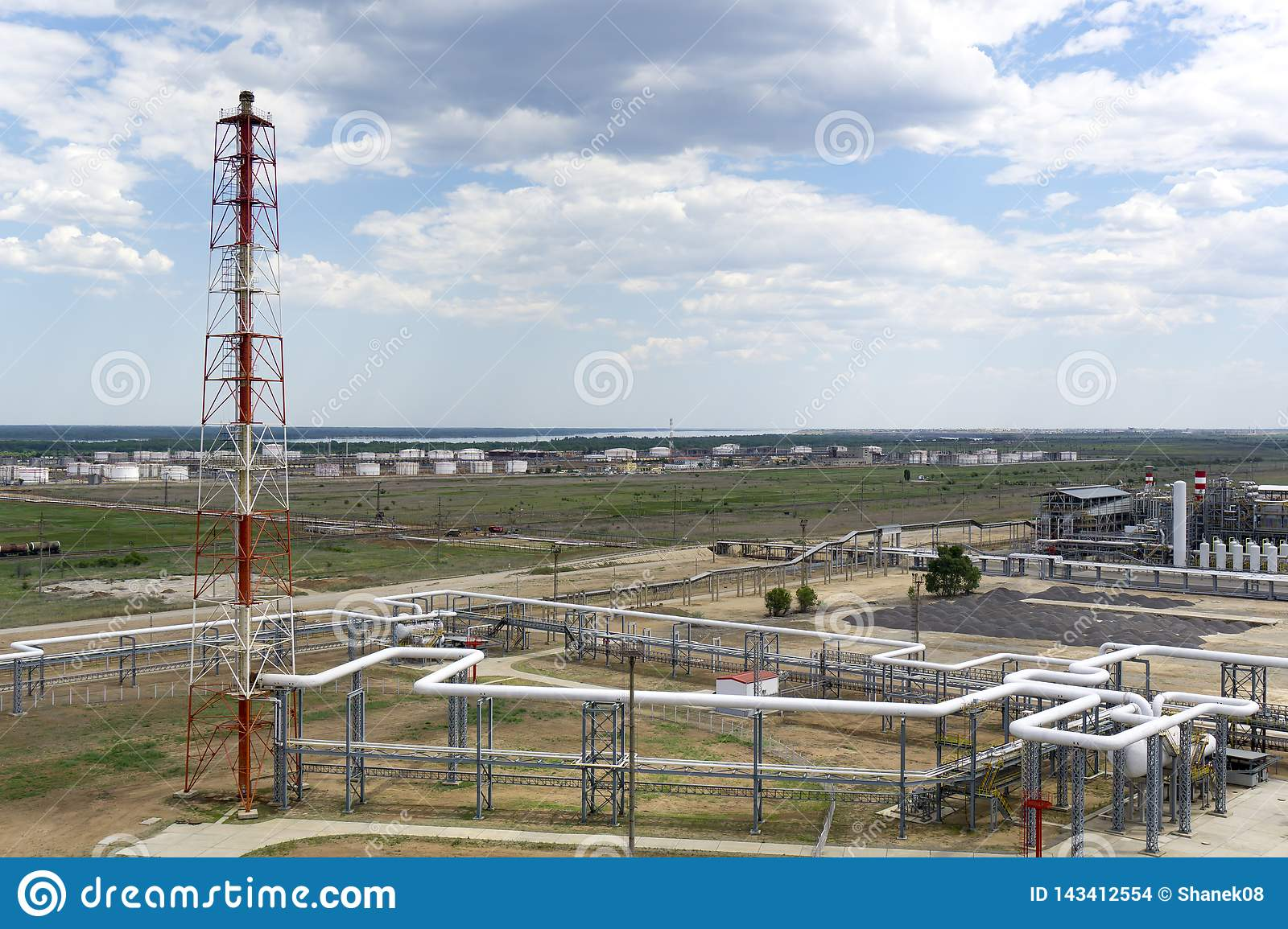 Oil depot. railway, transportation, tank, train, at a refinery in Russia. equipment and complexes for hydrocarbon processing. chim