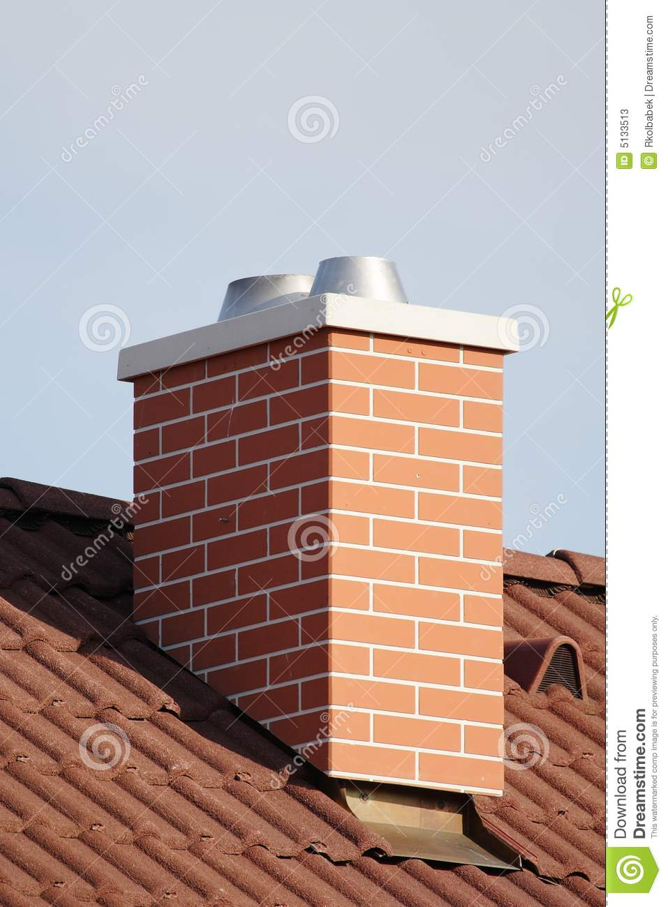 Chimney Stack Stock Image Image Of Blue Concrete