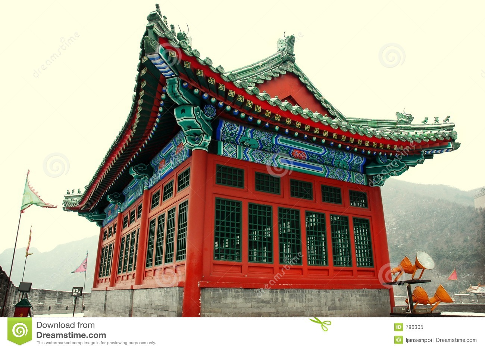 china architecture royalty free stock photo