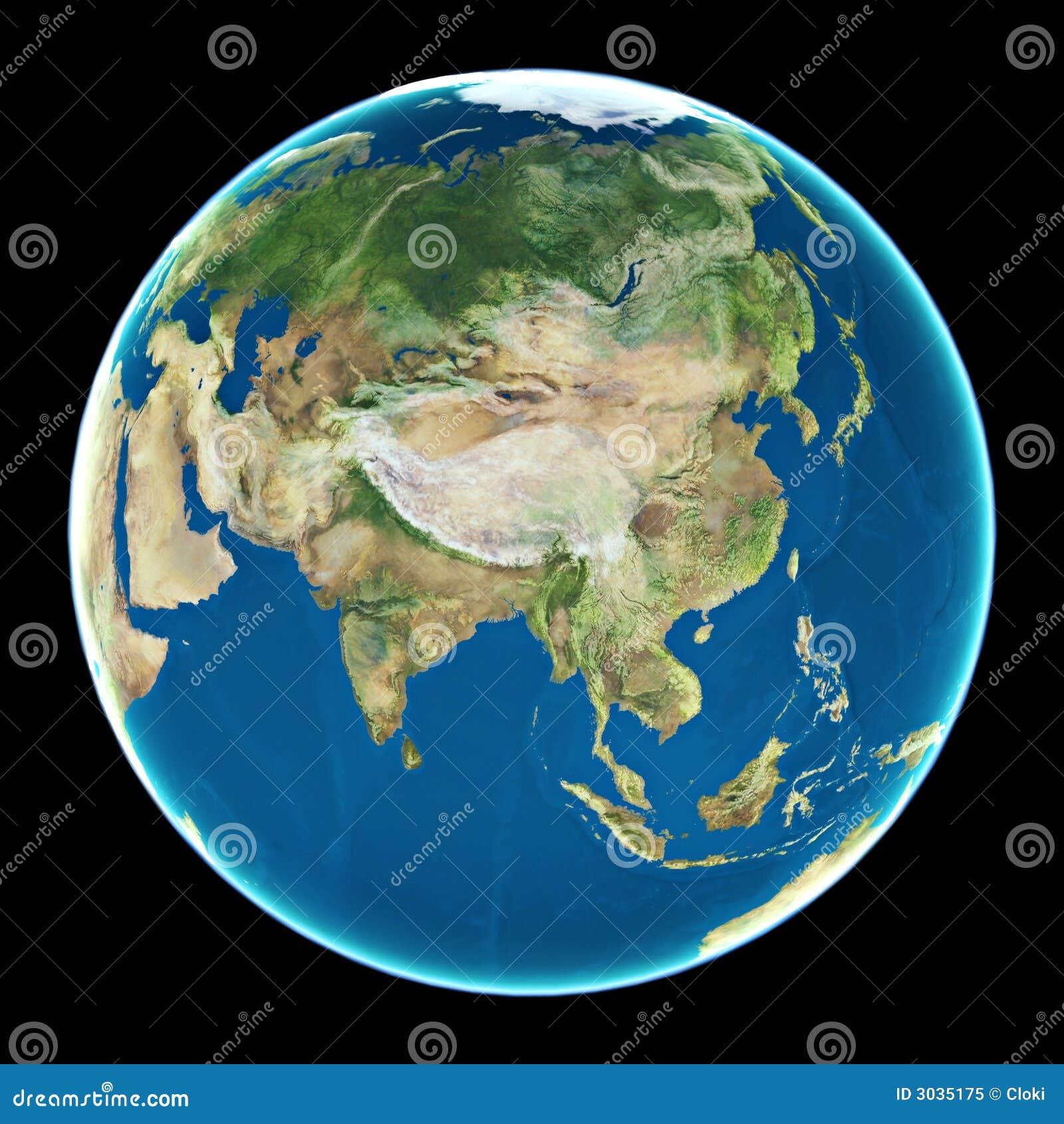 China auf Planet Erde