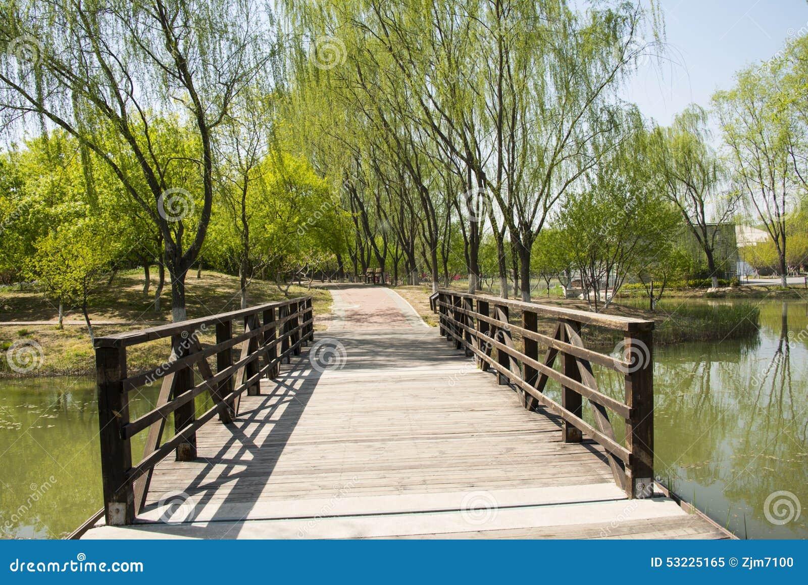 Park Als Tuin : China azië peking olympisch forest park tuin landscapeï houten