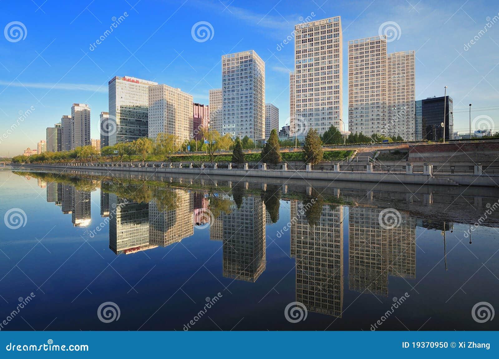 China Beijing CBD, prédio de escritórios urbano
