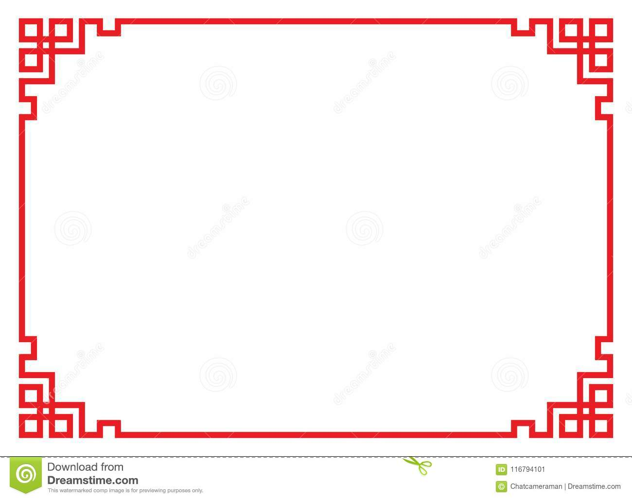 China border frame stock vector. Illustration of isolated - 116794101