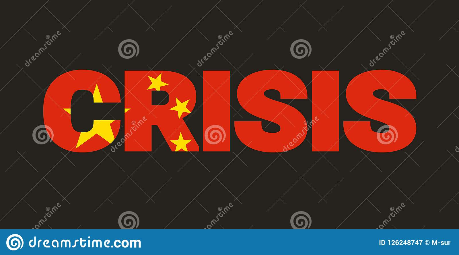 China And Chinese Crisis Stock Vector Illustration Of Negative