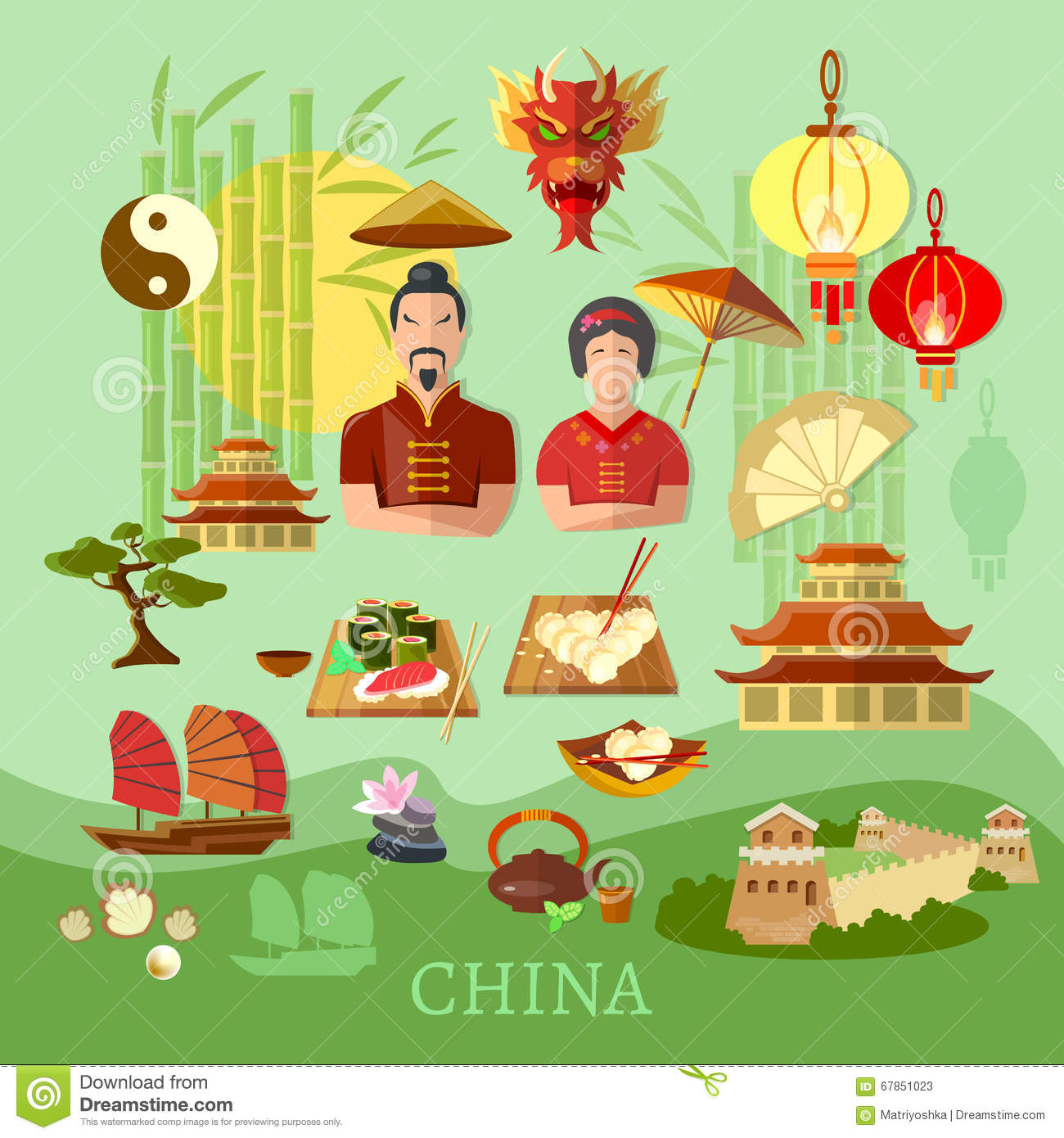 China Chinese traditions and culture travel concept