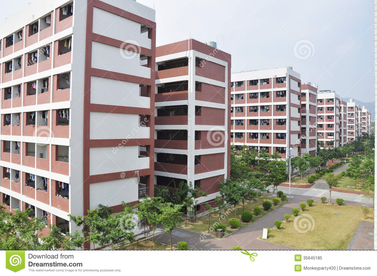 CHINA College Dormitory stock image  Image of dorms, dormitories