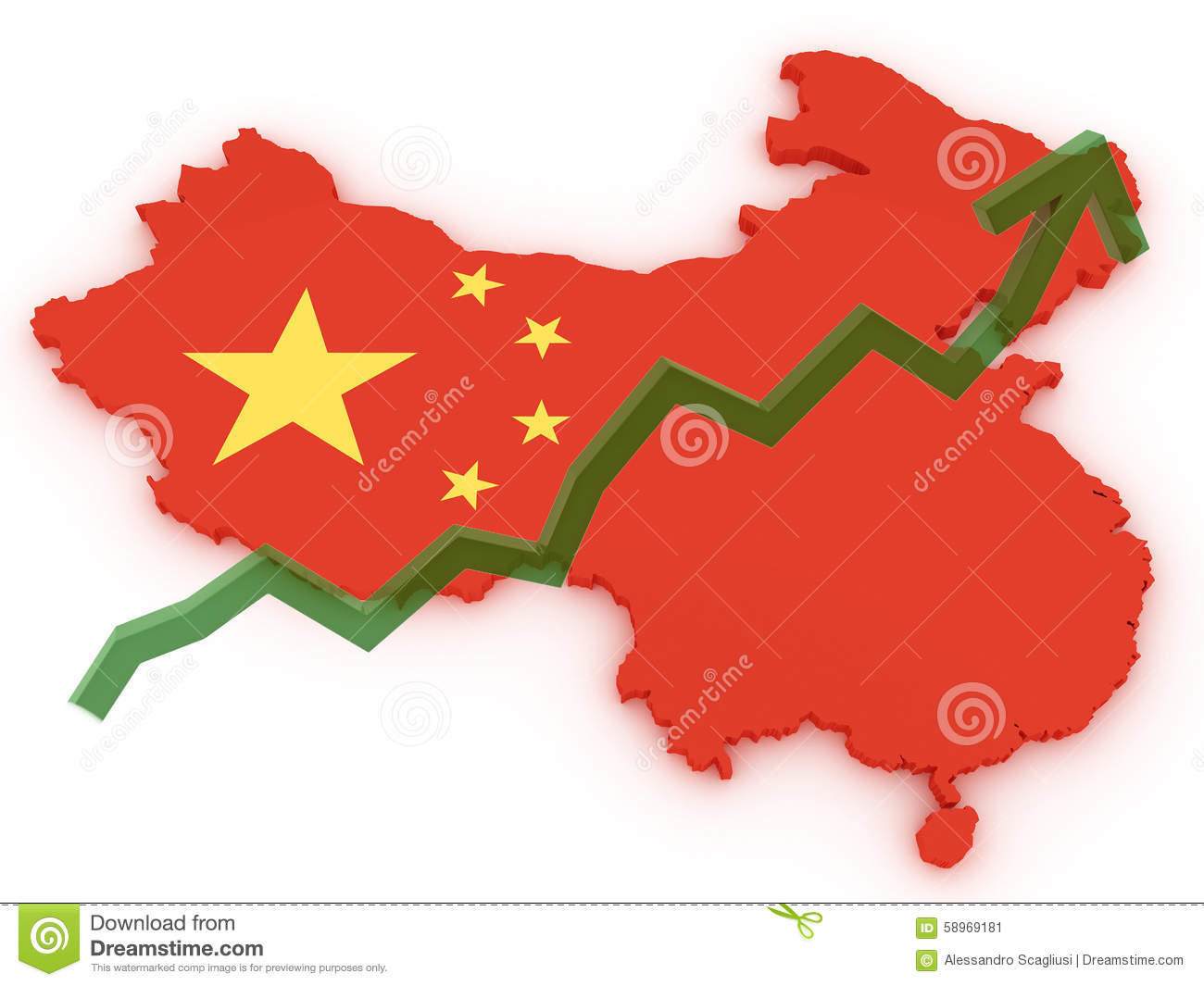 China 3d map stock markets up stock illustration image 58969181