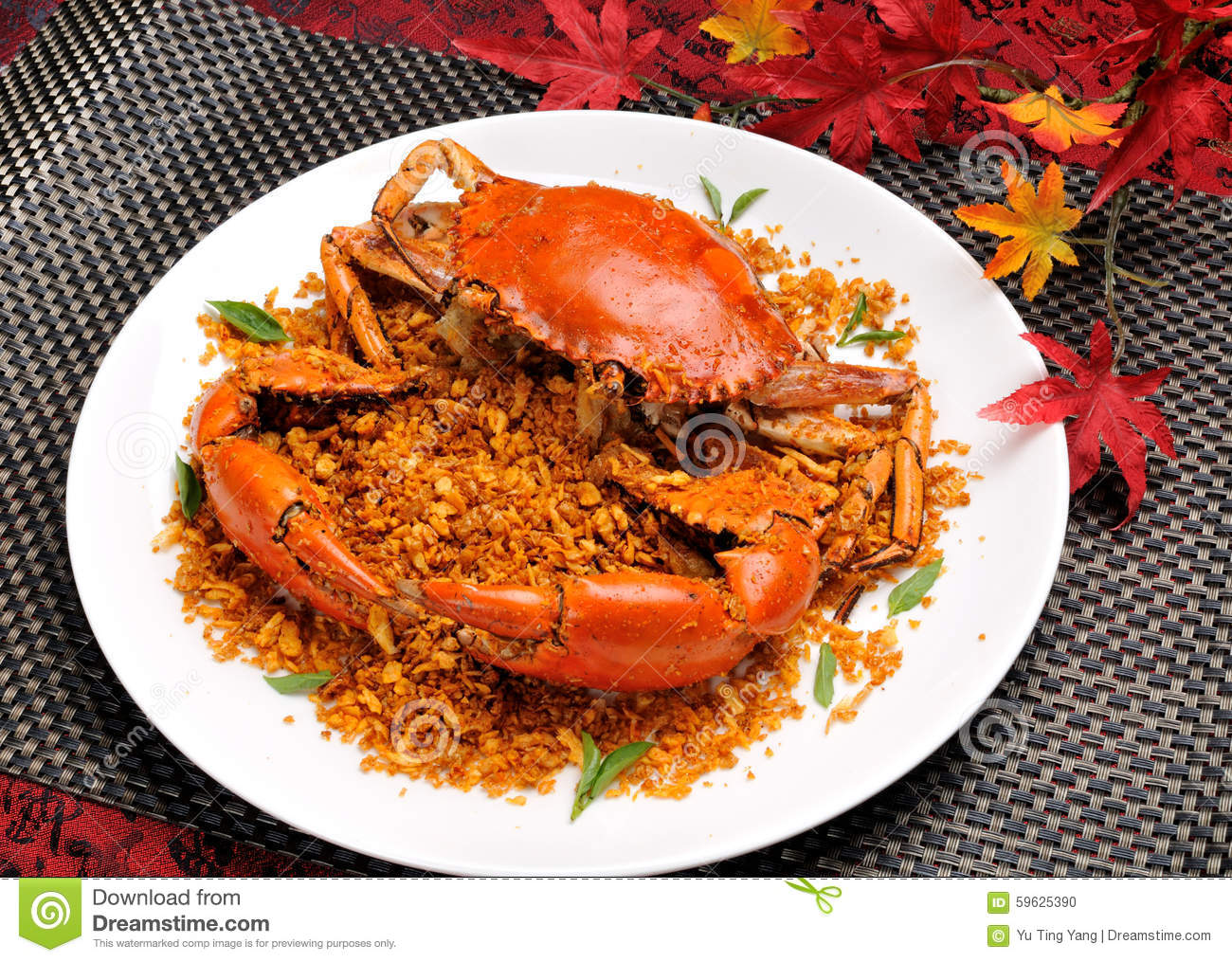 China delicious food chinese cuisine fried shell crab with garlic and pepper stock photo - Delicious chinese cuisine ...