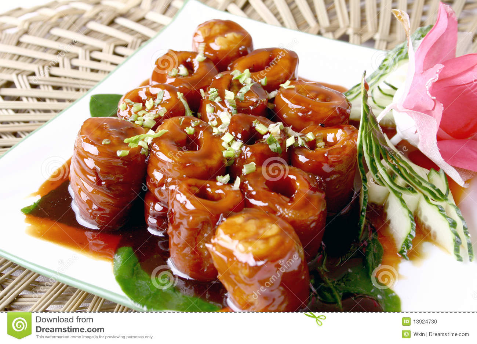 Pig Intestines Chinese Food