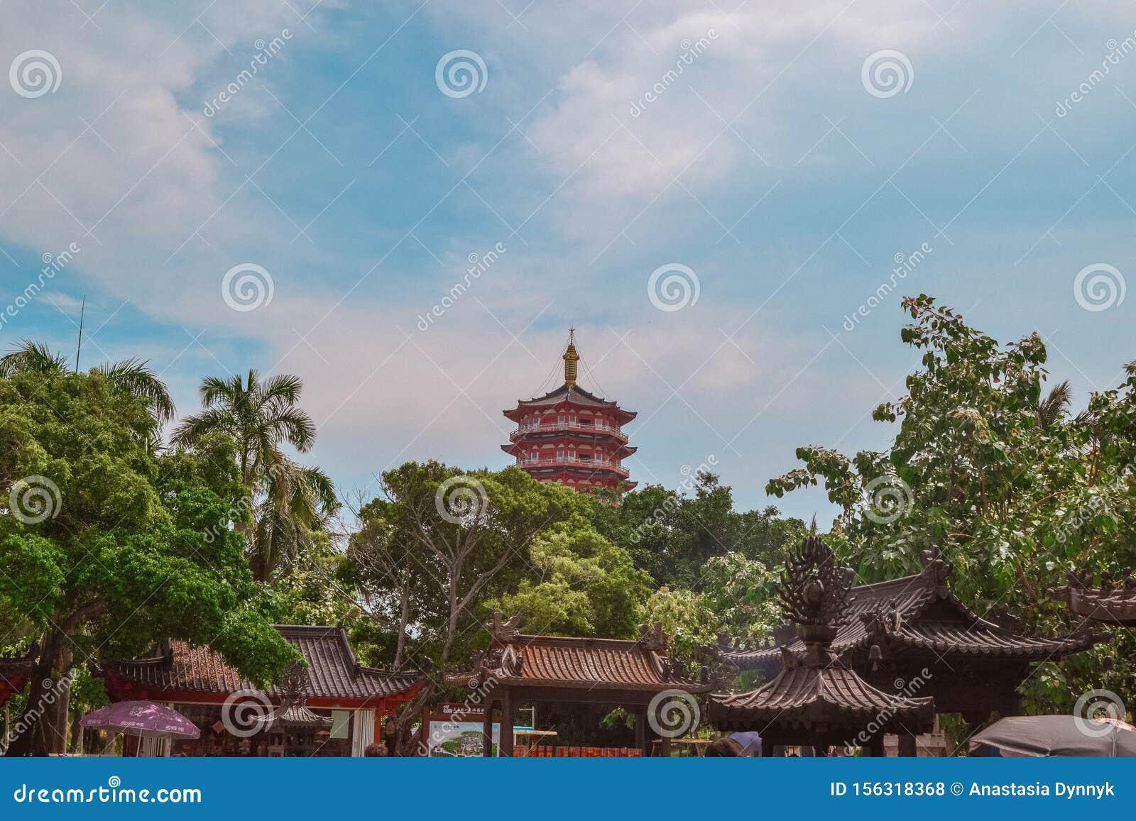 China ethnic buildings in Sanya Hainan