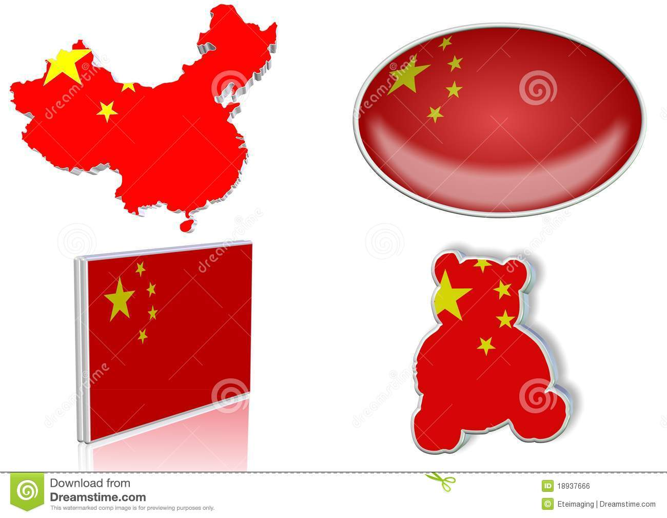 China Flag Stock Illustration Illustration Of Symbol 18937666